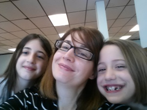 My girls and I at Muffins for Mom at their school