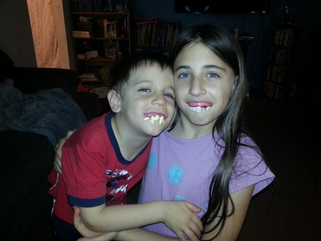 Novelty Teeth and Little Brother
