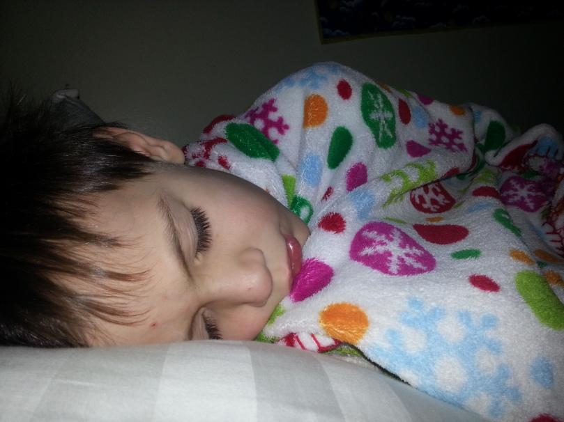 M sleeping