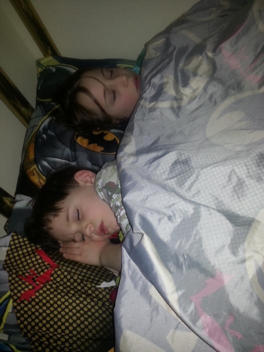 M and Kate sleeping.