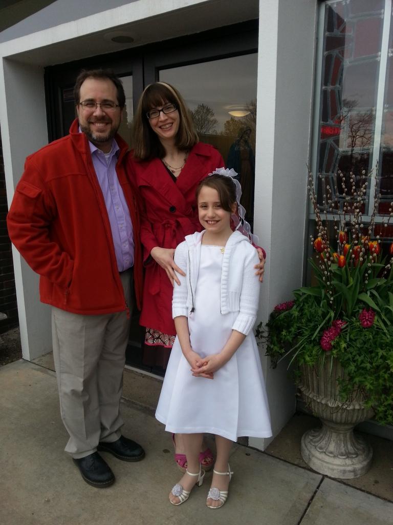 Dan, Kate, and I outside church