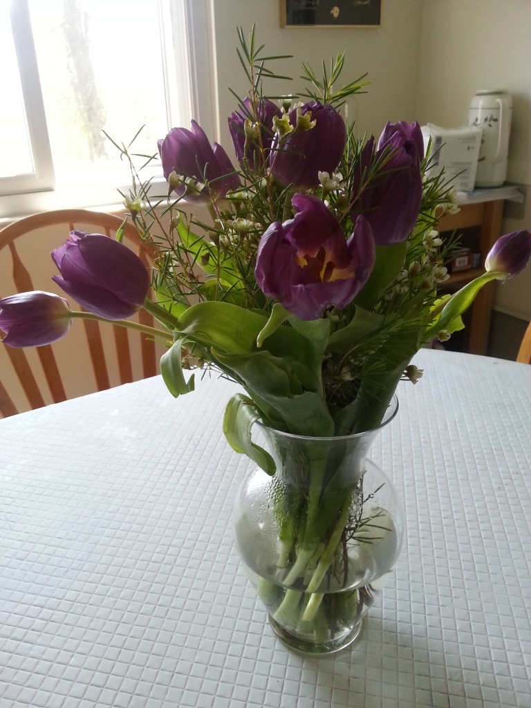Flowers from my parents. Thanks, guys!