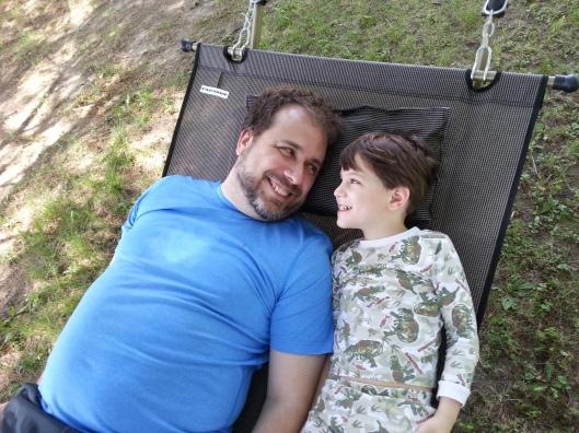 Dan and M in hammock