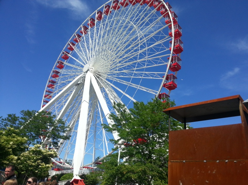 The ferris wheel at Navy Pier.