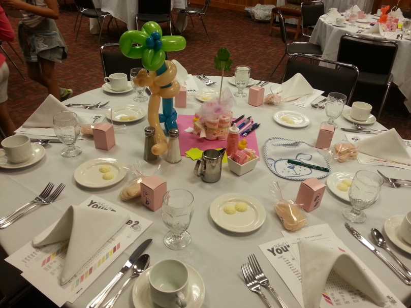 Baby Shower table.